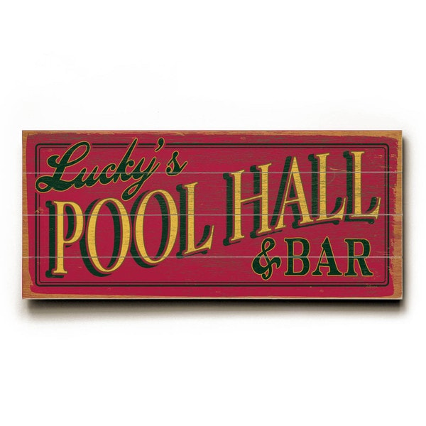 Pool Hall - Wood Wall Decor by FLAVIA
