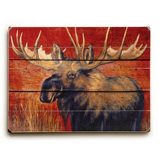 Moose - Wood Wall Decor by Grand Image