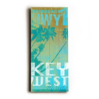 Key west hwy 1 - Wood Wall Decor by Cory Steffen - Planked Wood Wall Decor