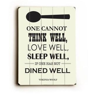 Dine Well - Wall Decor by Amanda Catherine