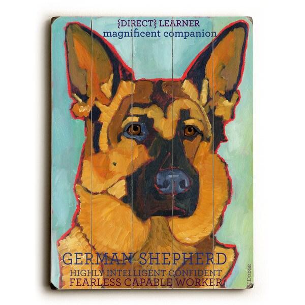 German Shepherd - Wall Decor by Ursula Dodge - Free Shipping On ...