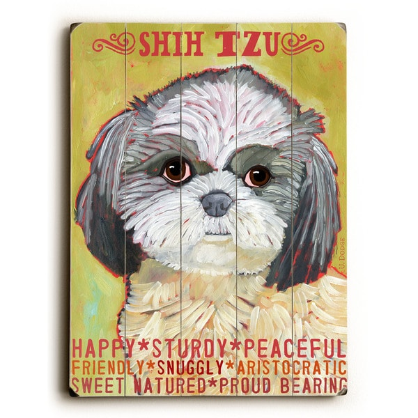 Shih Tzu - Wall Decor by Ursula Dodge