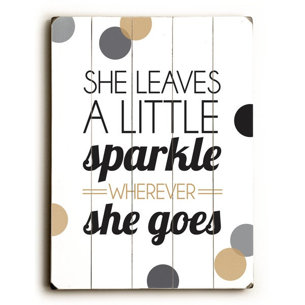 She Leaves a Little Sparkle - Wall Decor by Amanda Catherine