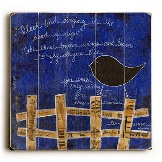Black Bird - Wood Wall Decor by Krista Brock