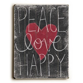 Peace Love Happy - Wall Decor by Misty Diller