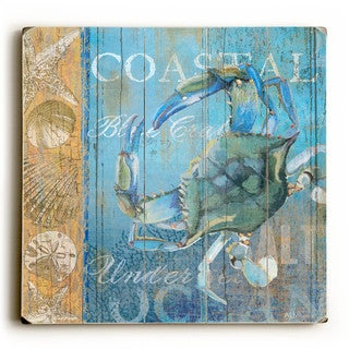 Crab and Sea - Wood Wall Decor by ArtLicensing