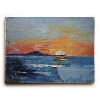 The sun falls into the sea - Wall Decor by Carol Schiff