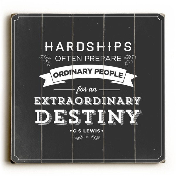 Extraordinary Destiny - Wood Wall Decor by Pocket Fuel