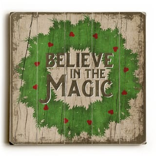 Believe in the Magic - Wood Wall Decor by Misty Diller - Multi-Color