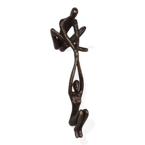 Danya B. Man Lifting Woman from Ledge Bronze Sculpture