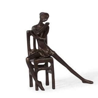 Danya B. Ballerina on Chair Bronze Sculpture