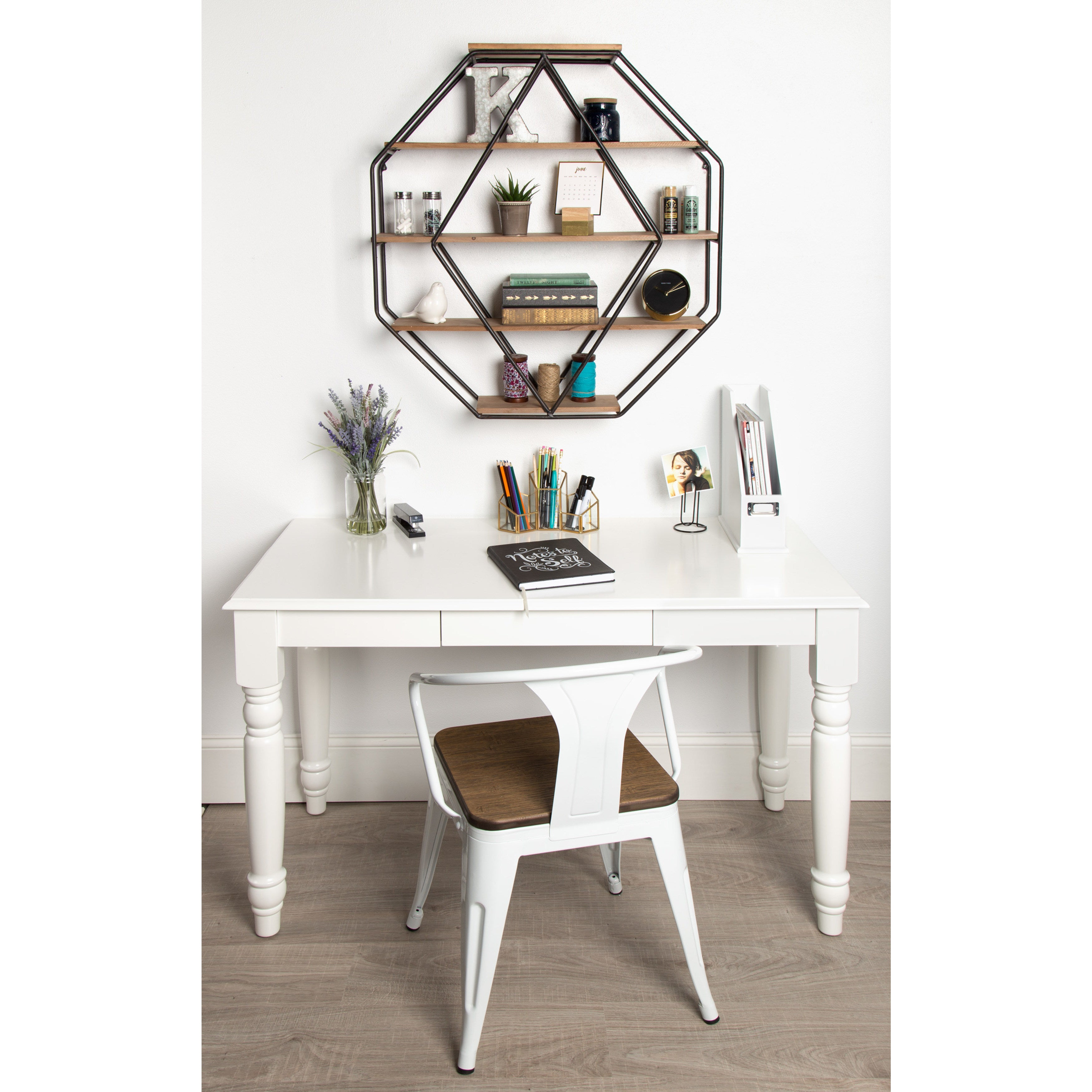 competitive price 3e41f f6e97 Kate and Laurel Lintz Wood Octagon Floating Wall Shelves