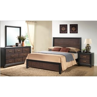 Emerald Home Prelude Brown Panel Bed Kit