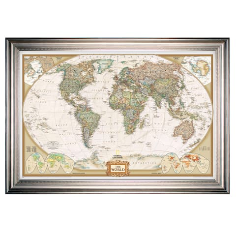 Framed National Geographic Travel Map SF