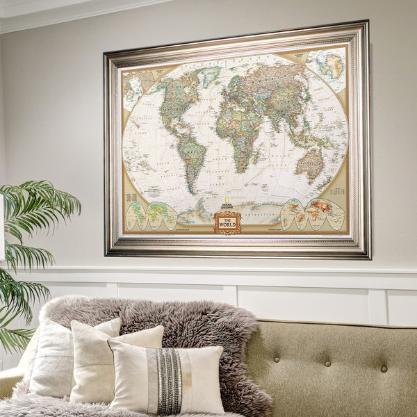 Shop Framed National Geographic Travel Map Sf Free Shipping Today