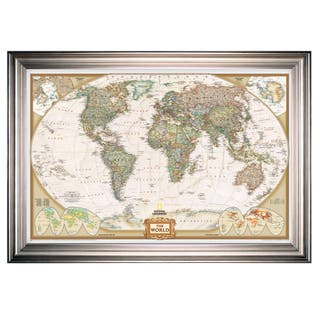 Size large map art gallery shop our best home goods deals online framed national geographic travel map sf gumiabroncs Images