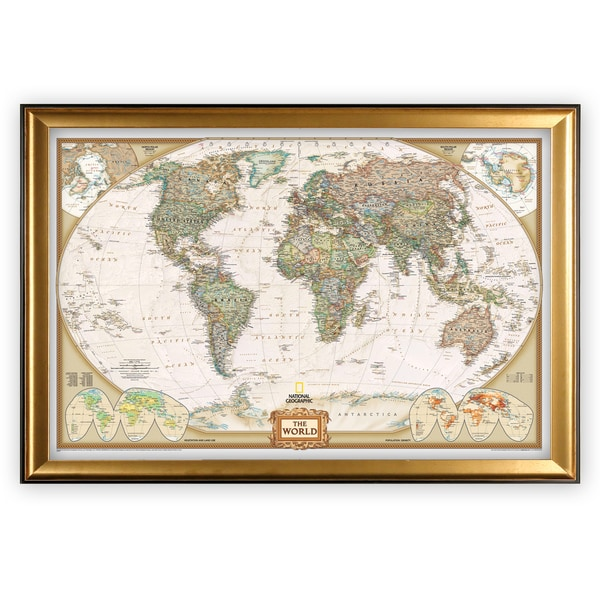 Framed National Geographic Travel Map GF. Opens flyout.