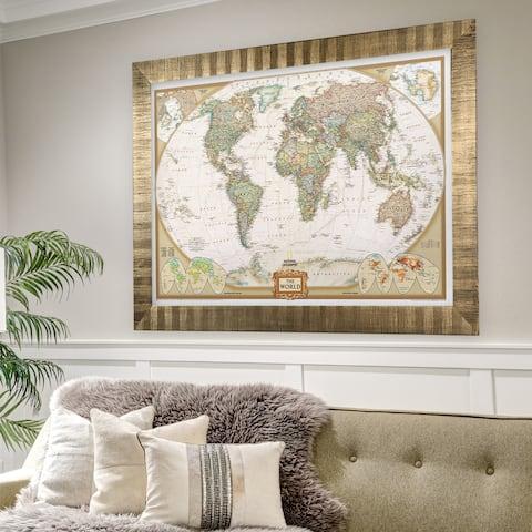 Framed National Geographic Travel Map AF
