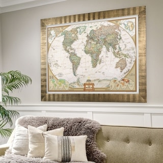 Framed National Geographic Travel Map AF