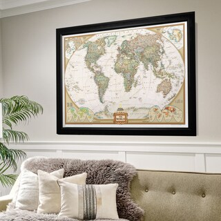 Framed National Geographic Travel Map BF