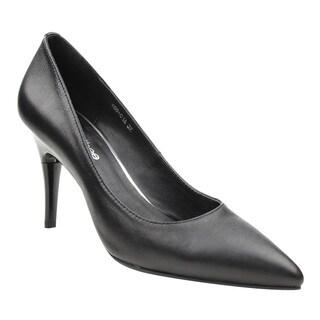SWITCH THEE DE22 Women's Genuine Sheep Leather Height Adjustable Dress Heels