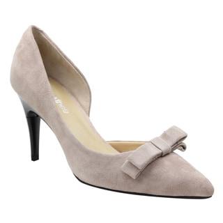SWITCH THEE DE21 Women's Genuine Suede Height Adjustable Dress Heels D'orsay Pump
