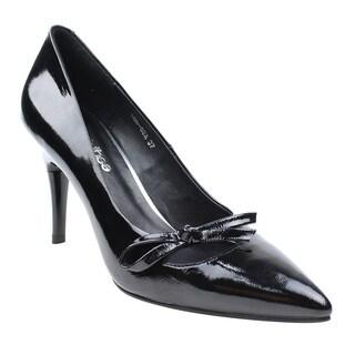 SWITCH THEE DE20 Women's Genuine Patent Leather Height Adjustable Dress Heels