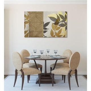 Courtside Market Yellow Leaf II Gallery Wrapped Canvas Wall Art - 12x18