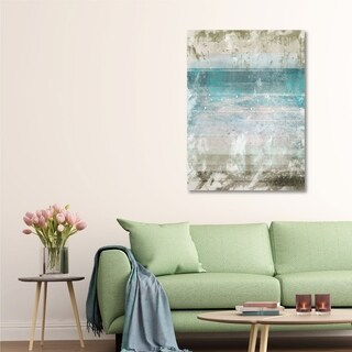 Courtside Market Aqua Space I Gallery Wrapped Canvas Wall Art - 16x20