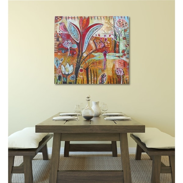 Courtside Market Exotica Gallery Wrapped Canvas Wall Art - 36x36