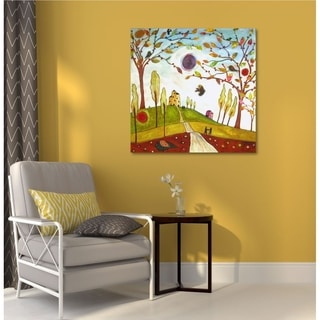 Courtside Market Apple Park Gallery Wrapped Canvas Wall Art - 16X16