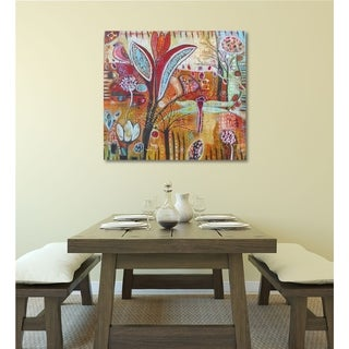 Courtside Market Exotica Gallery Wrapped Canvas Wall Art - 16X16