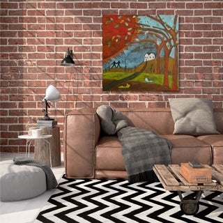 Courtside Market Spring Walk Gallery Wrapped Canvas Wall Art - 36x36