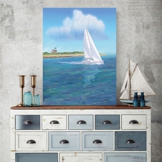 Courtside Market Sailboat Gallery Wrapped Canvas Wall Art - 30x45