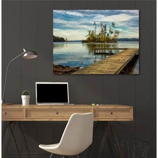 Courtside Market Lone Island Gallery Wrapped Canvas Wall Art - 30x45