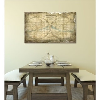Courtside Market Constellation Map Gallery Wrapped Canvas Wall Art - 32x40