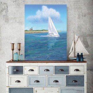 Courtside Market Sailboat Gallery Wrapped Canvas Wall Art - 12x18