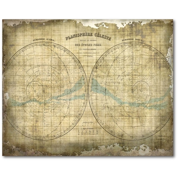 Courtside Market Constellation Map Gallery Wrapped Canvas Wall Art ...