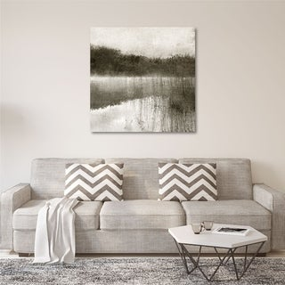 Courtside Market Misty Morning on the Lake Gallery Wrapped Canvas Wall Art - 16X16