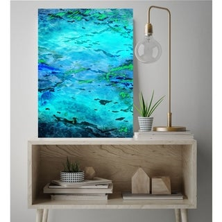 Courtside Market Abstract Waves Gallery Wrapped Canvas Wall Art - 24x30