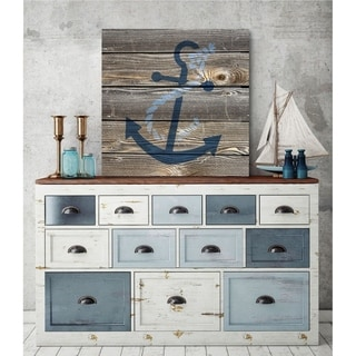 Courtside Market Coastal Anchor Gallery Wrapped Canvas Wall Art - 36x36