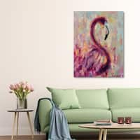 Courtside Market Flamingo Bliss Gallery Wrapped Canvas Wall Art - 32x40