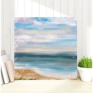 Courtside Market Blue Sea Gallery Wrapped Canvas Wall Art - 16X16