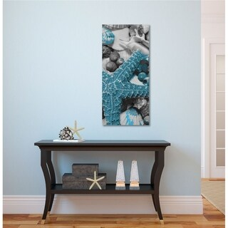 Courtside Market Starfish and shell pile II Gallery Wrapped Canvas Wall Art - 12x24