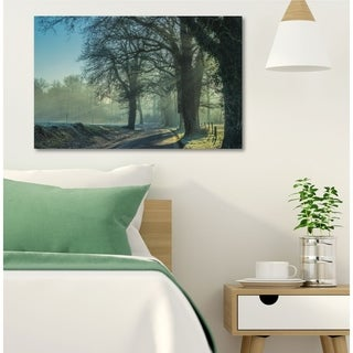 Courtside Market Cold Morning Road Gallery Wrapped Canvas Wall Art - 22x33