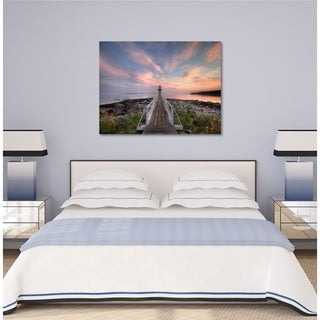 Courtside Market Sunset Gallery Wrapped Canvas Wall Art - 16x20