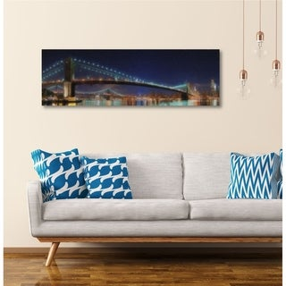 Courtside Market NewYork Nights Gallery Wrapped Canvas Wall Art - 12x24