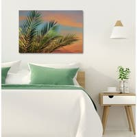 Courtside Market Palm Fronds Gallery Wrapped Canvas Wall Art - 16x20