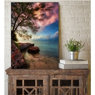 Courtside Market Tree & Water Gallery Wrapped Canvas Wall Art - 12x18