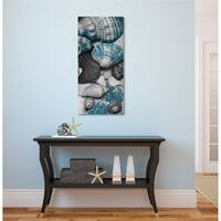 Courtside Market Shell Pile I Gallery Wrapped Canvas Wall Art - 12x24